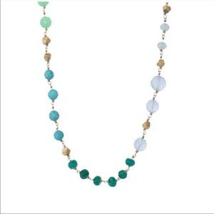 Stella & Dot Turquoise Green Gold Aileen Necklace
